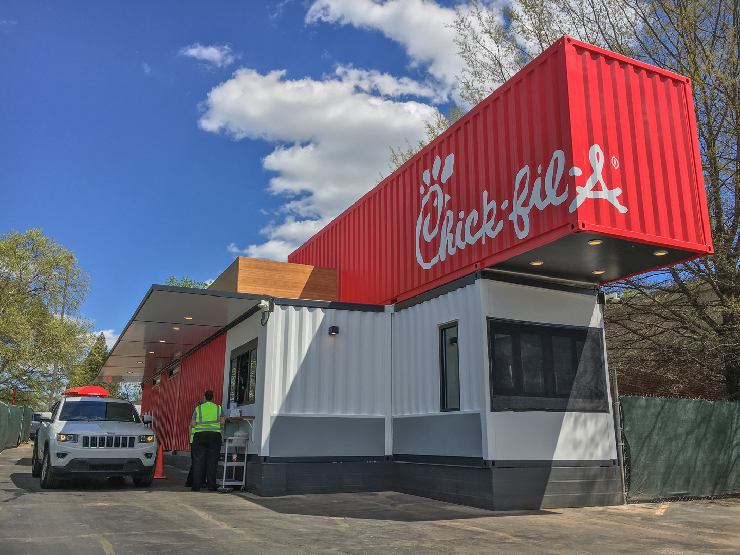 Video: Watch Us Build A Chick-fil-A Out of Shipping Containers