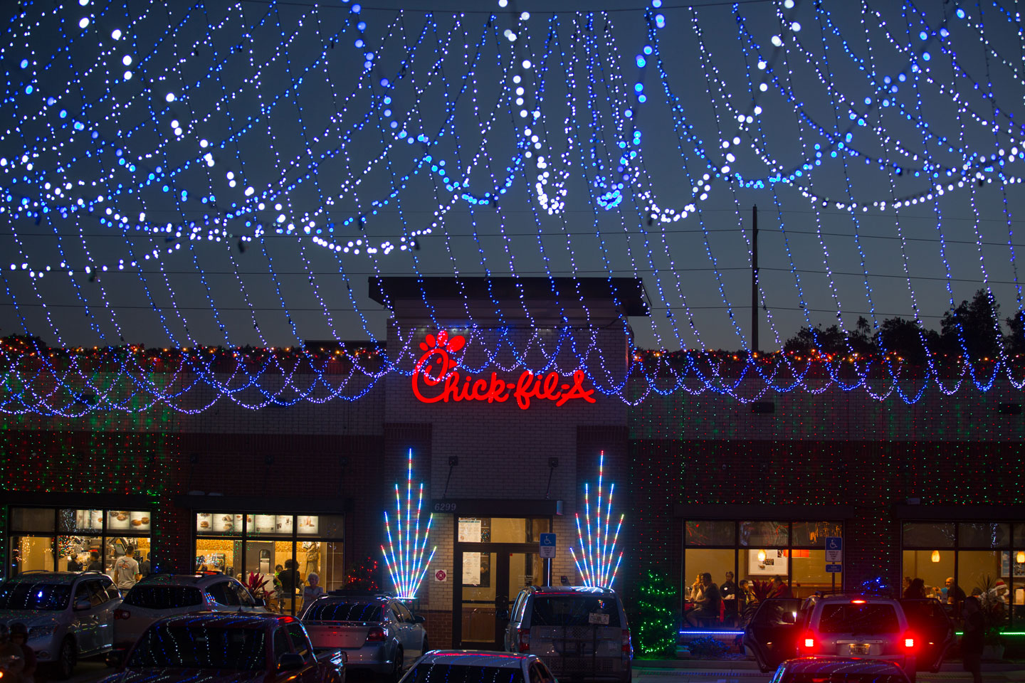 Deck the chick fil a with lights and nuggets chick fil a mozeypictures Gallery