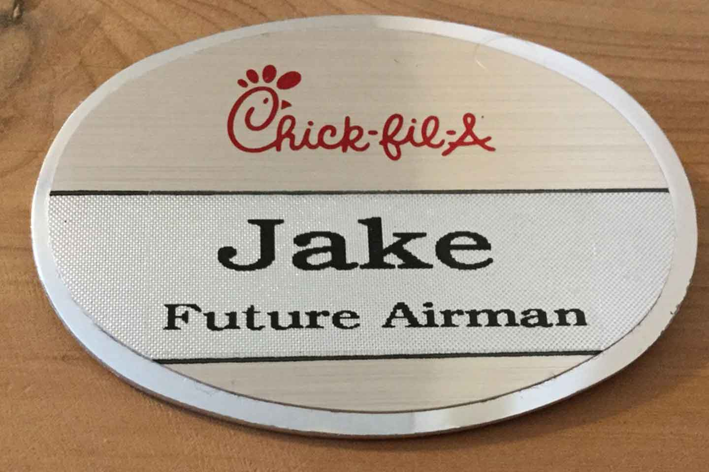 photograph relating to Future Missionary Tag Printable named Extra than a reputation tag Chick-fil-A