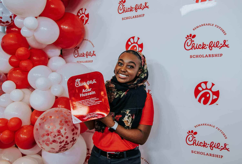Adar Hussein is $25,000 scholarship recipient