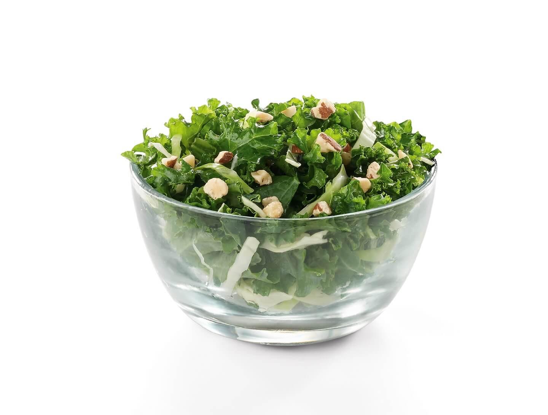 Kale Crunch Side in a clear bowl