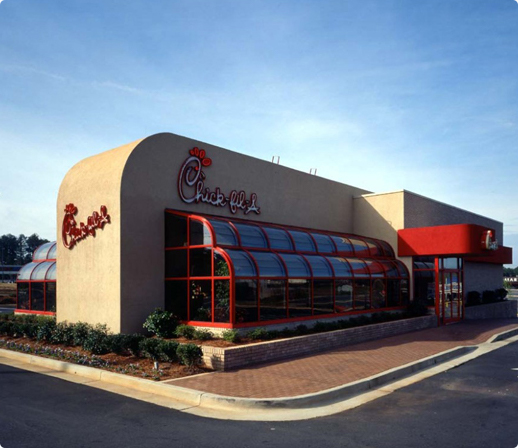 Image of the first Chick-fil-A restaurant