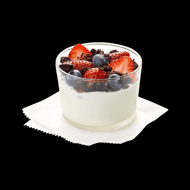 Greek Yogurt Chocolate Cookie Crumbs Parfait