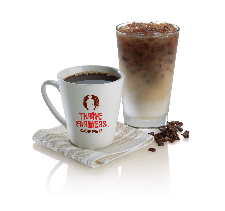 mug of thrive farmers black coffee