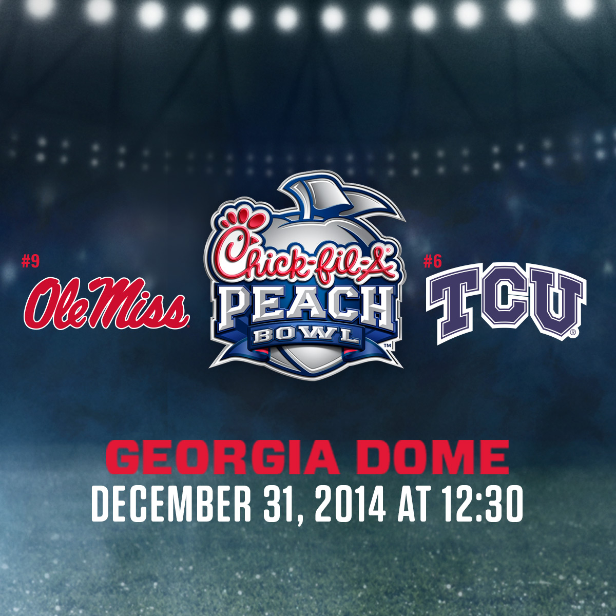 Peach bowl logo graphic
