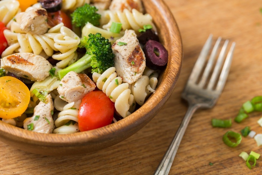 Chicken pasta picnic salad