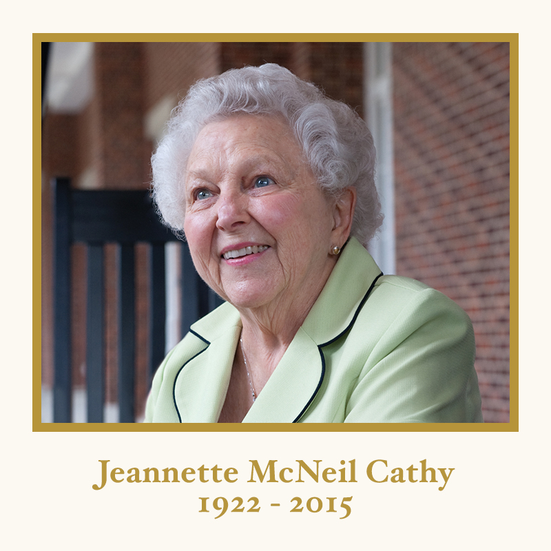 Jeannette Cathy 1922-2015