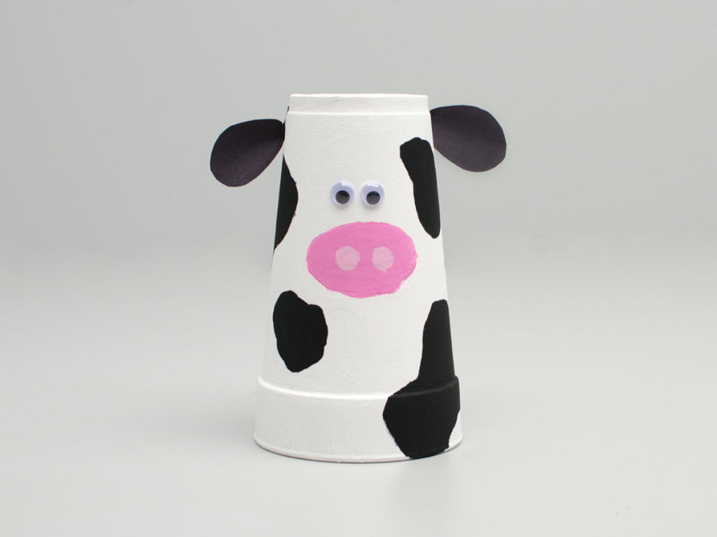 Cups that go moo chick fil a be sure to check back for other styrofoam cup crafts you and your family can enjoy jeuxipadfo Image collections