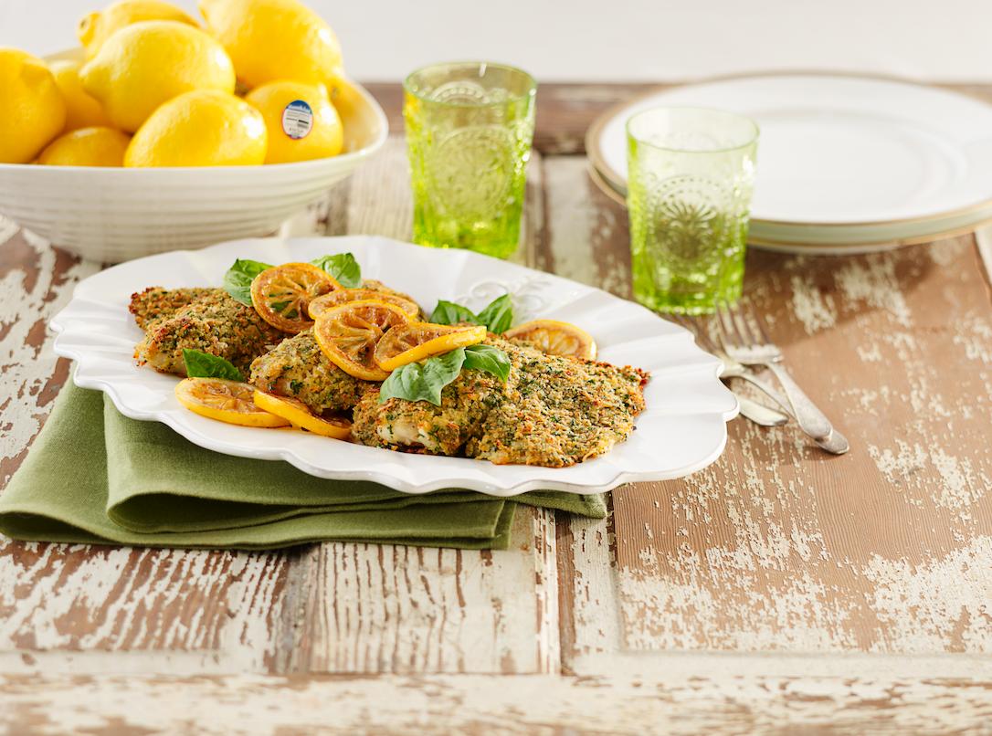 Lemon parmesan tilapia