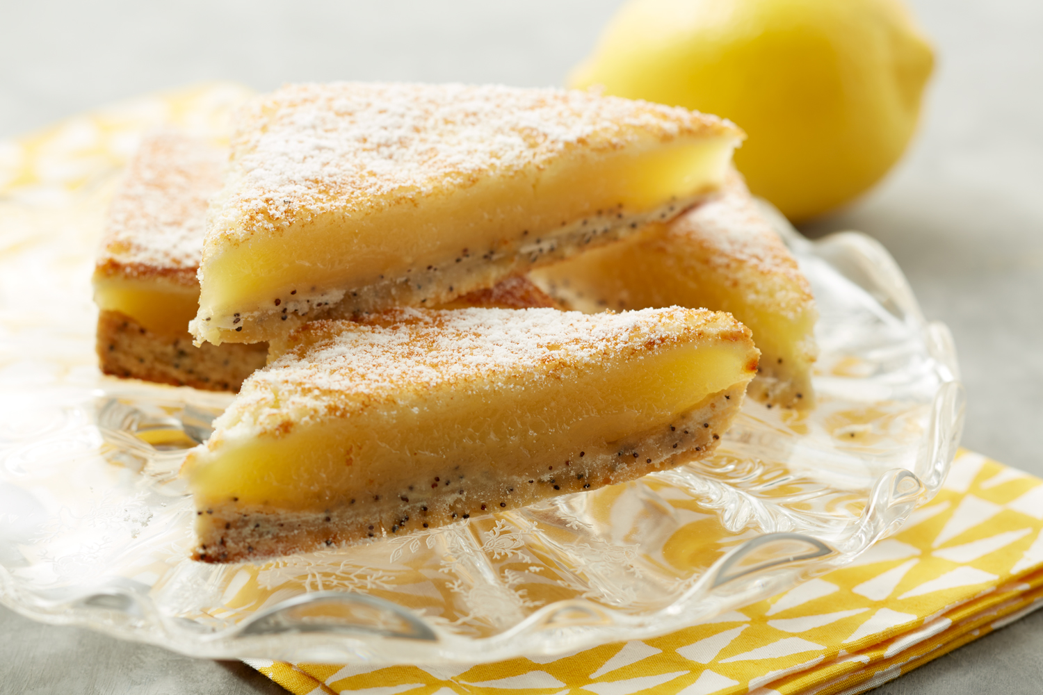 Classic Lemon Bars with Poppy Seed Crust