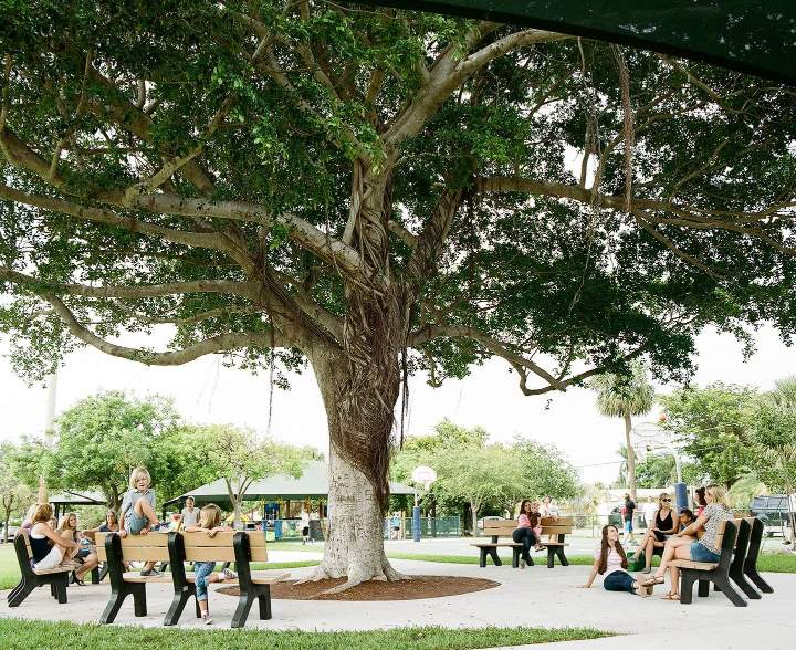 Frank McDonough Park in Lighthouse Point, Florida