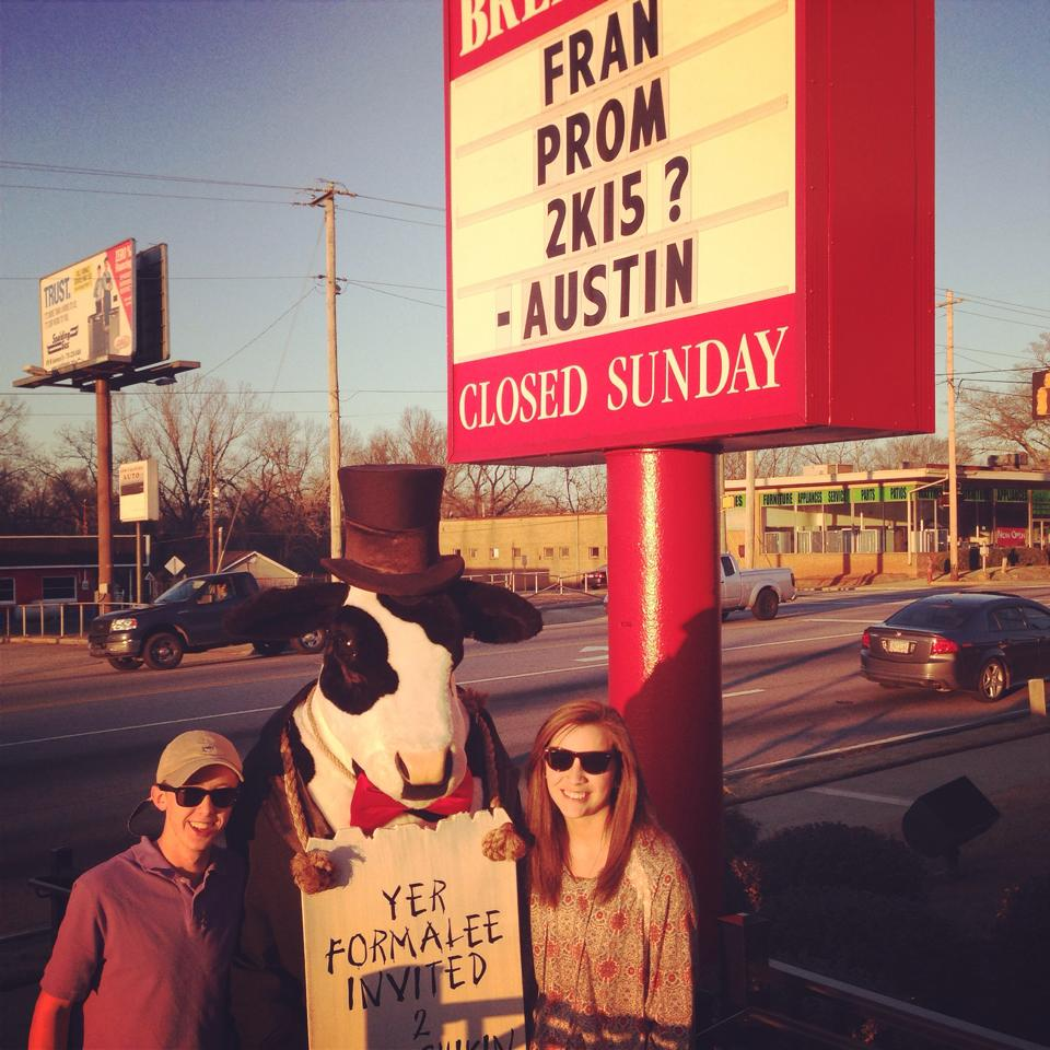 Austin Peek and Mary Frances Mabbett at Chick-fil-A Griffin, Ga.