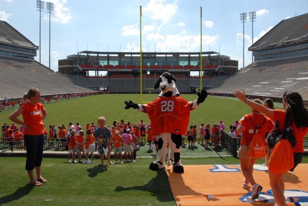 Clemson cow at the stadium