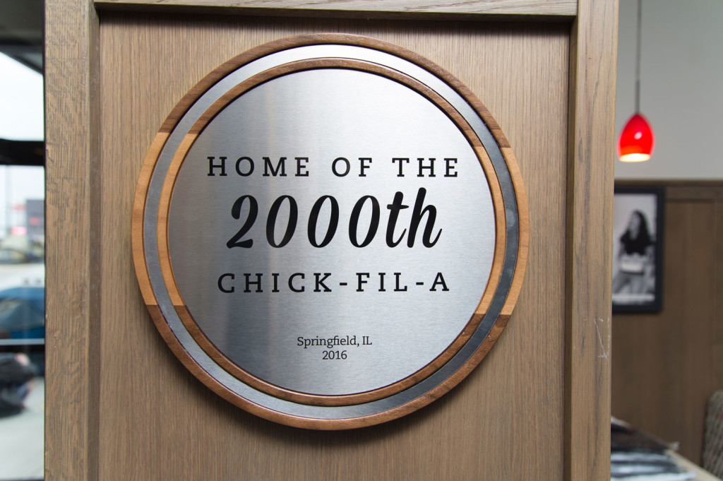 Home of the 2,000th Chick-fil-A sign