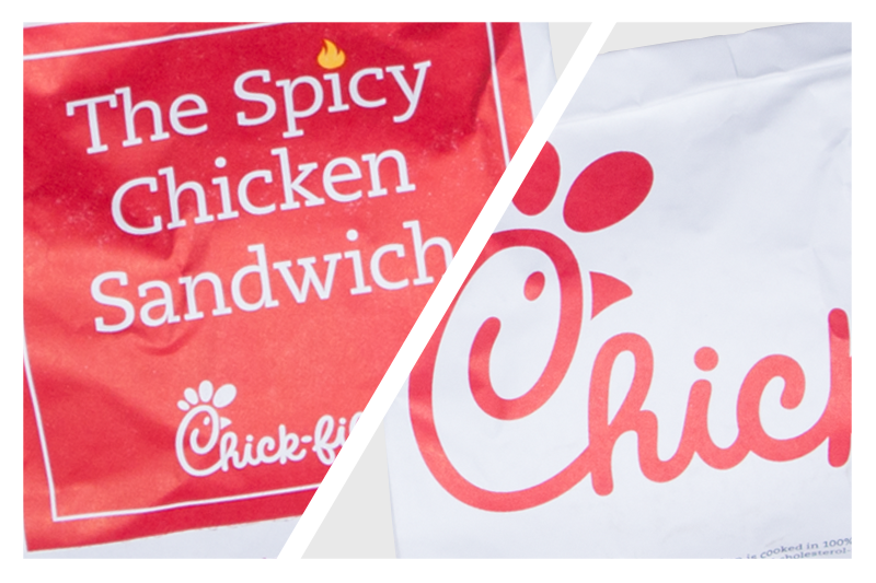 Spicy and regualar chick-fil-A sandwiches