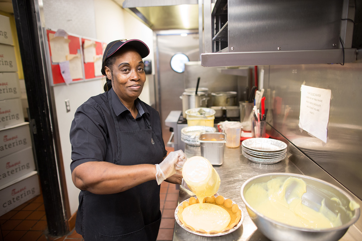 Ms. Jackie Banks making a Lemon Meringue Pie