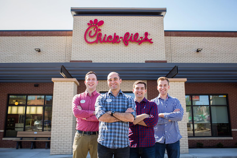 Portland stores leadership team-Brian Davis, Kaleb Swanda, Stephen Parker, and Daniel Horton