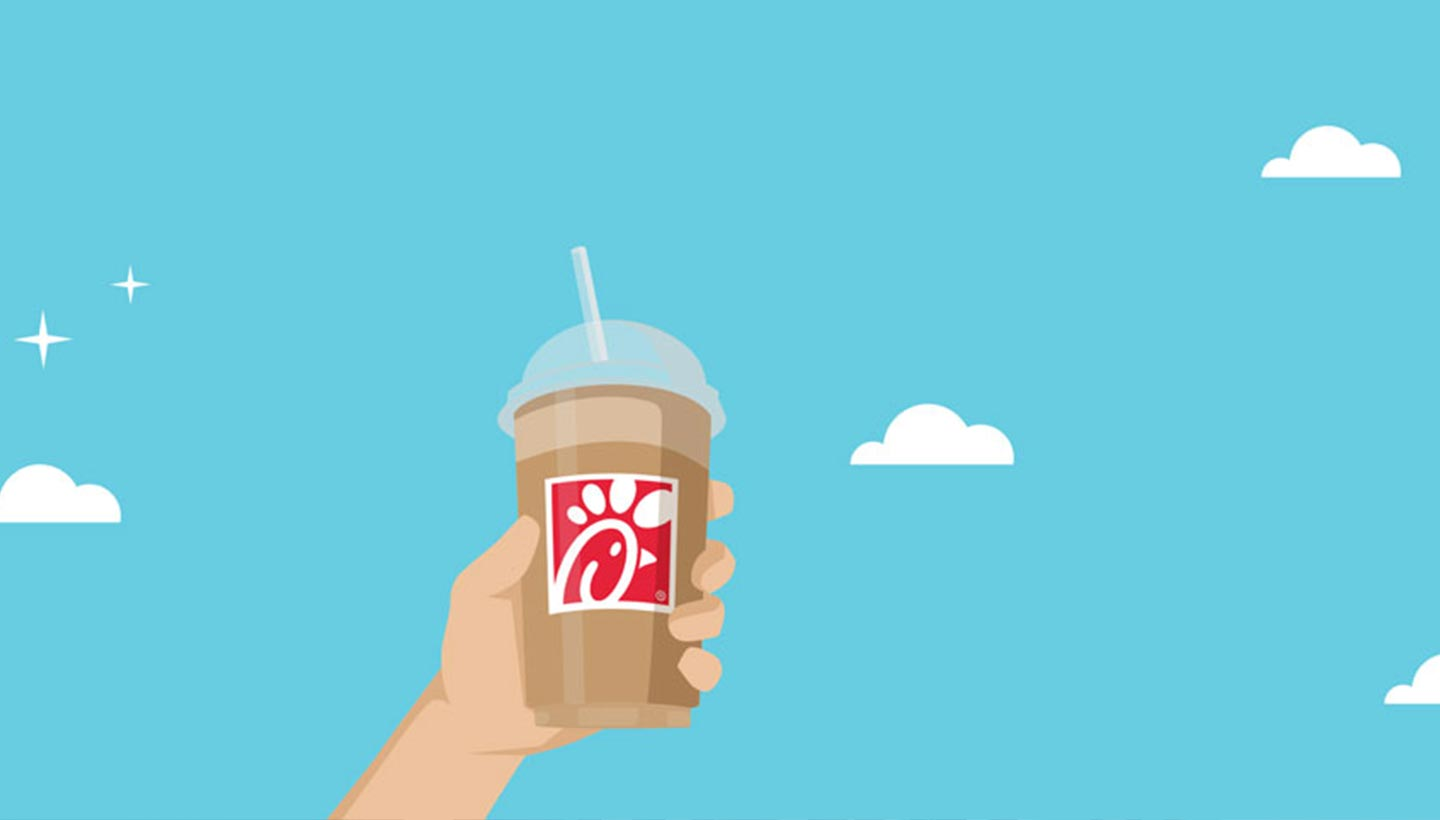 Frosted coffee graphic