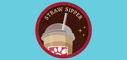 Straw sipper graphic