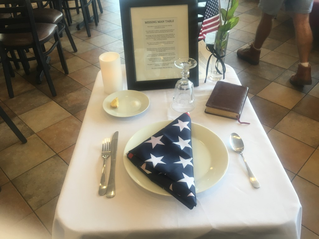 The missing man table
