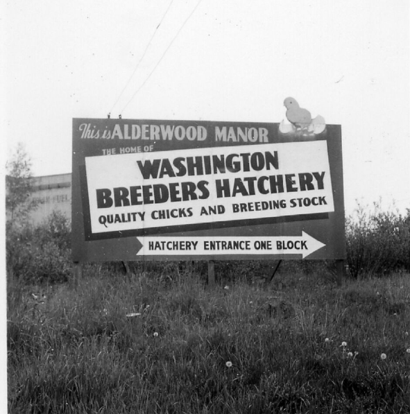 Washington Breeders Hatchery sign