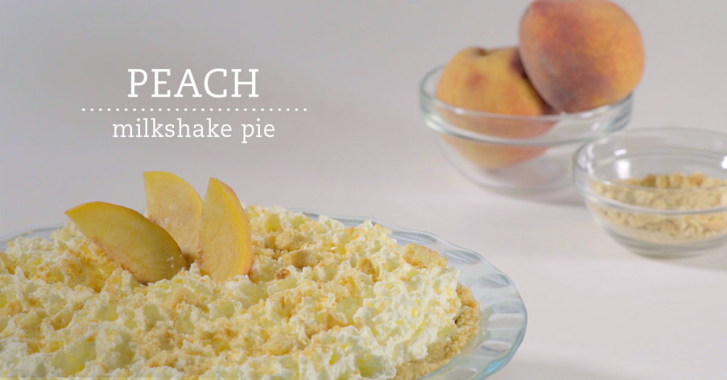 Peach milkshake pie