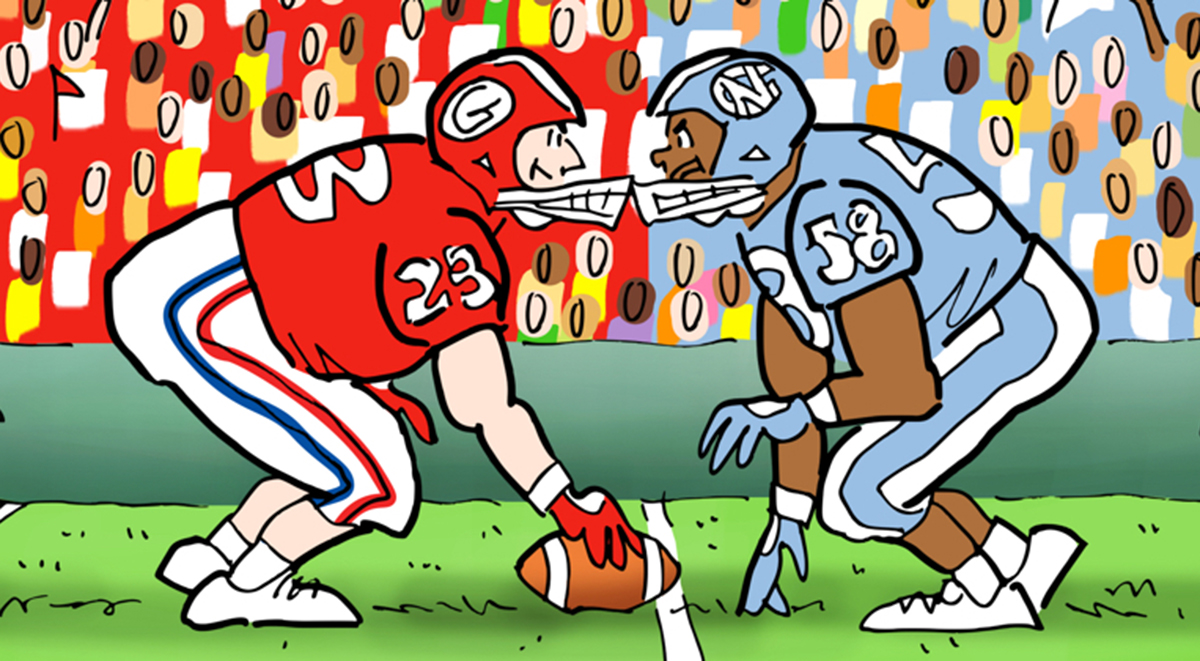 UGA vs. UNC graphic