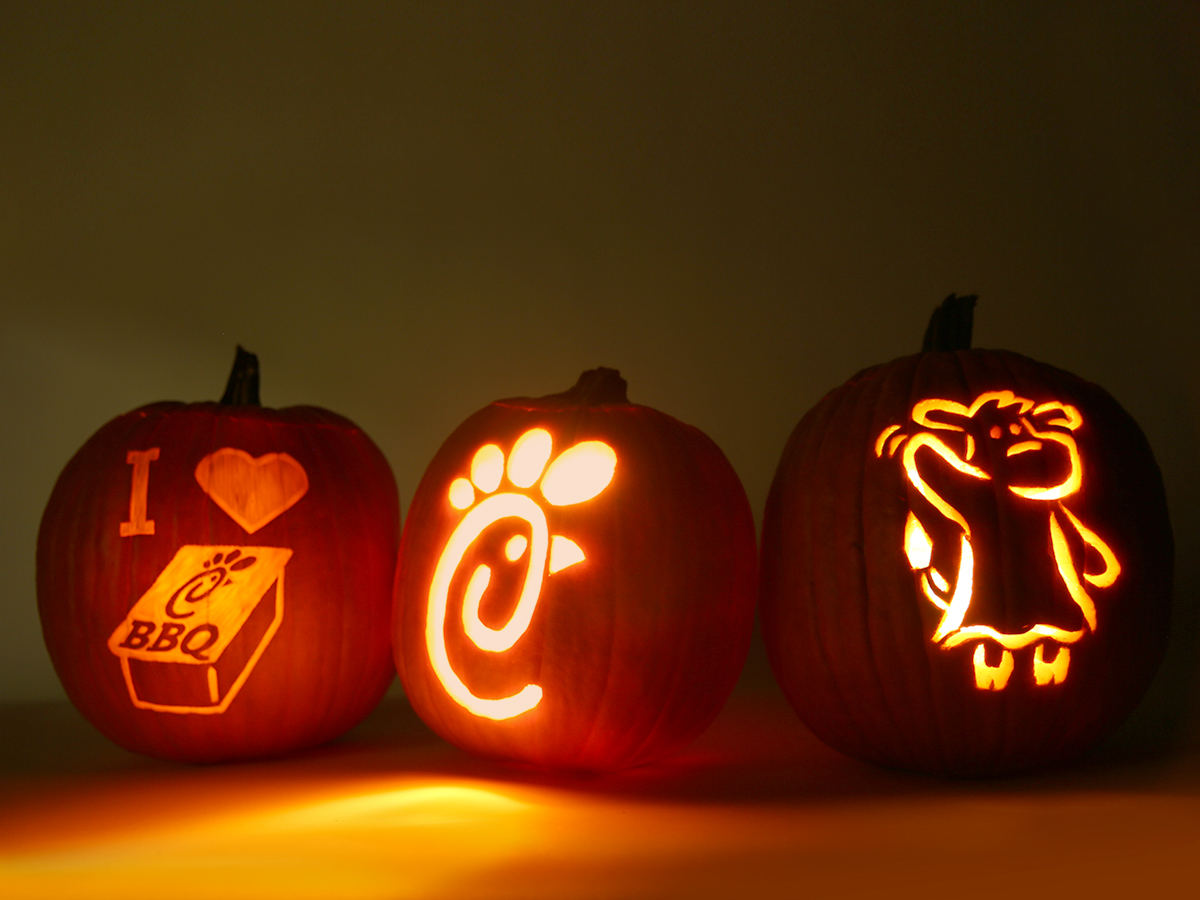 photograph about Printable Pumpkin Carving called Printable: Chick-fil-A Pumpkin Carving Stencils Chick-fil-A