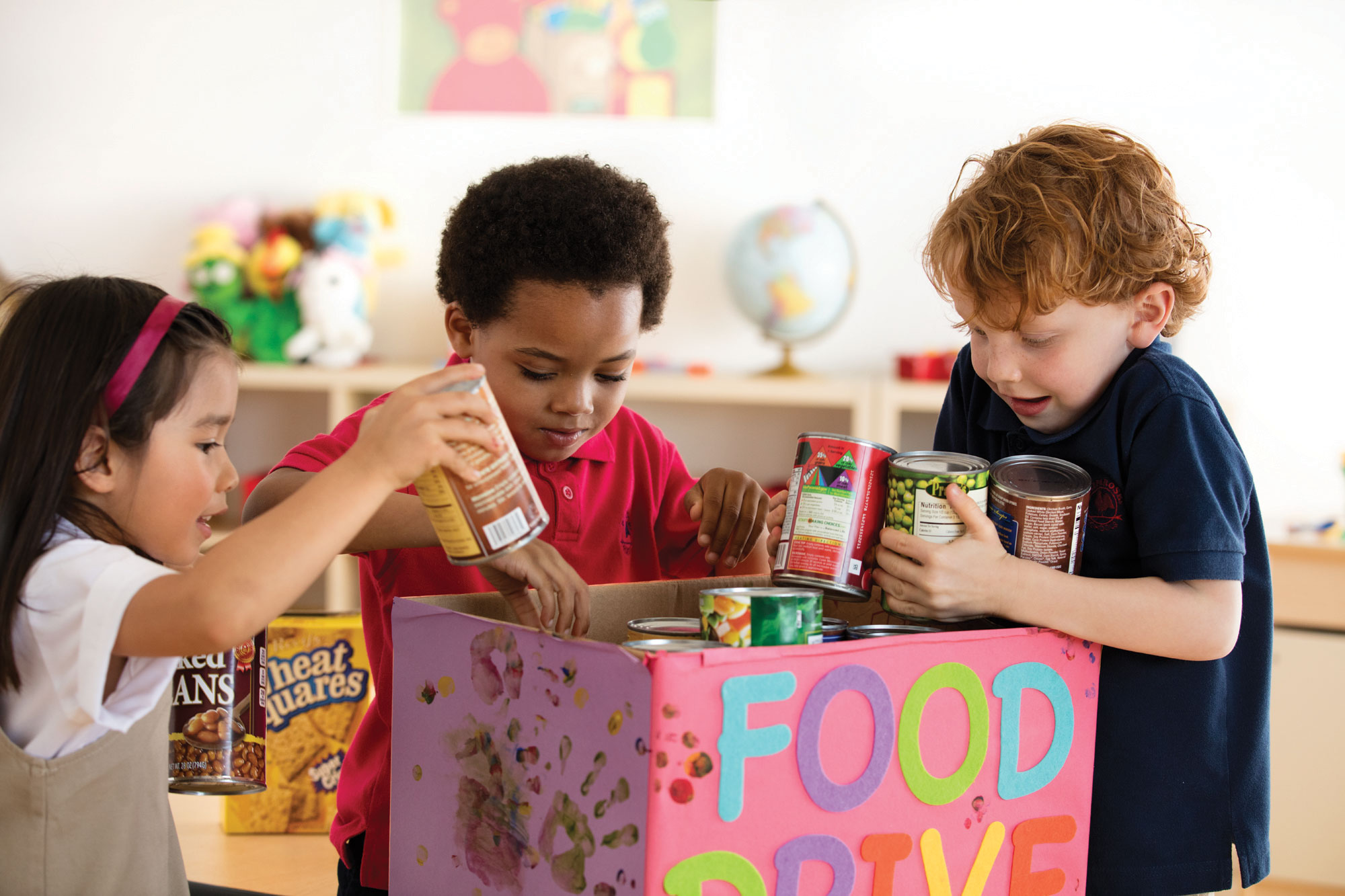 Primrose schools hosts a Caring and Giving Food Drive every year to reinforce an others-centered mindset.