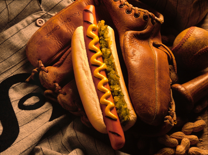 hot dogs and baseball