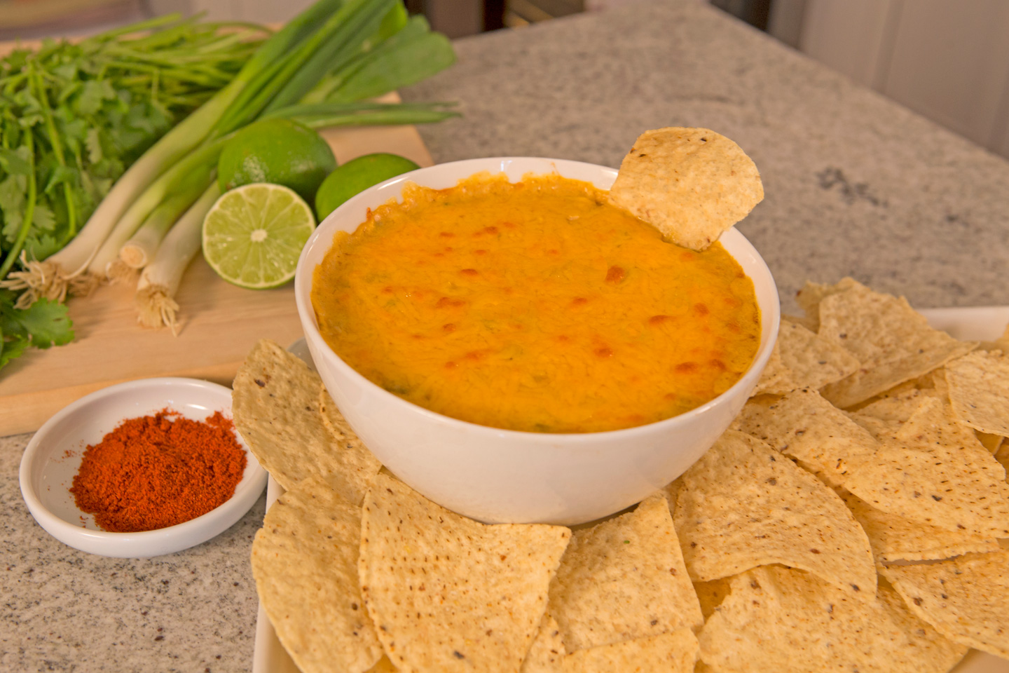 Slow Cooker Spicy Chicken Tortilla Dip